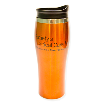 Orange SCCM Travel Coffee Mug
